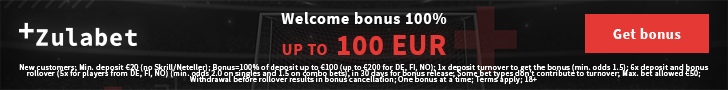 Get a €500 Bonus + 200 Spins at ZulaBet Casino OR a €150 Bonus at ZulaBet Sportsbook